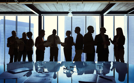 business networking: Group of Business Talking in a Meeting