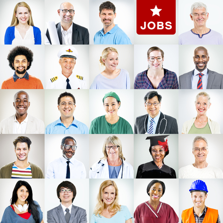 expertise: Portrait of Multiethnic Mixed Occupations People Stock Photo