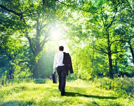 Businessman Walking Outdoors  photo