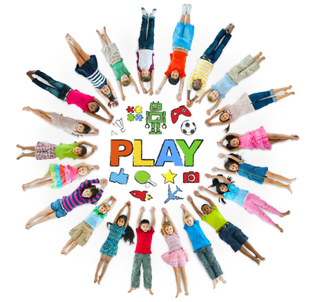 Group of Children Cicle and Play Concept photo