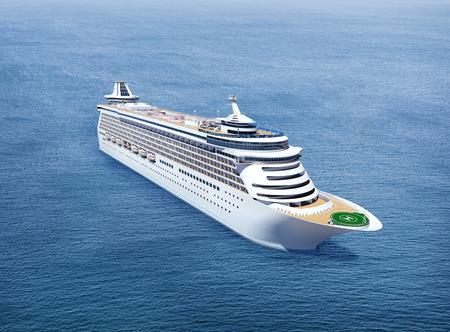 Cruise in de Oceaan Stockfoto