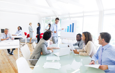 Group of Multi Ethnic Corporate People Having a Business Meeting Imagens - 29730053