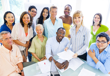 Group of Diverse Business Colleagues Enjoying Success photo