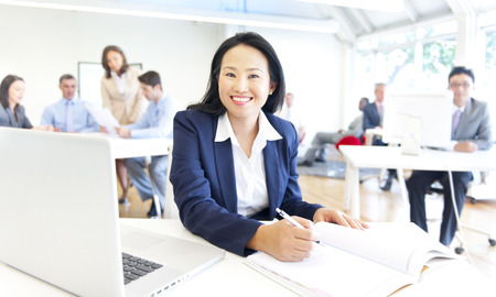 expertise: Working time in the office Stock Photo