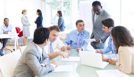 Group of business people meeting photo
