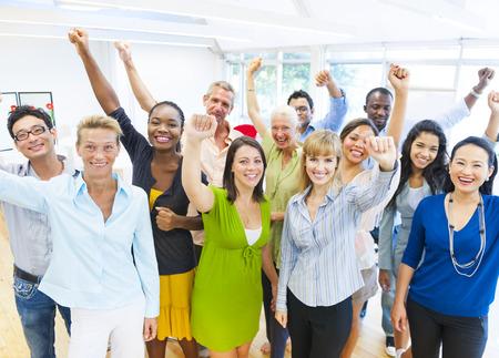 Successful Business People Celebrating
