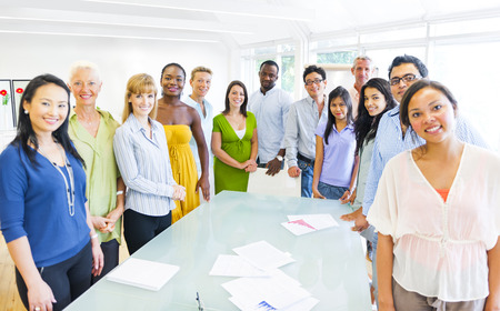 Diverse group of Business People Stock Photo