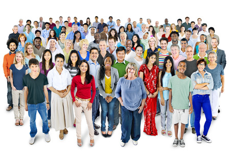 diversity people: Large group of Multiethnic people