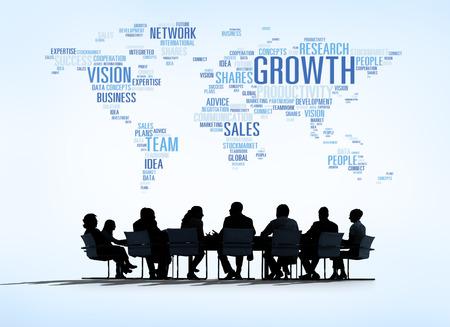 redes de mercadeo: Conceptos mundo de los negocios Foto de archivo