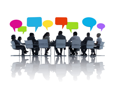 conference table: Group of Business People Meeting Stock Photo