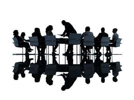 on the job training: Group of Business People Meeting Stock Photo
