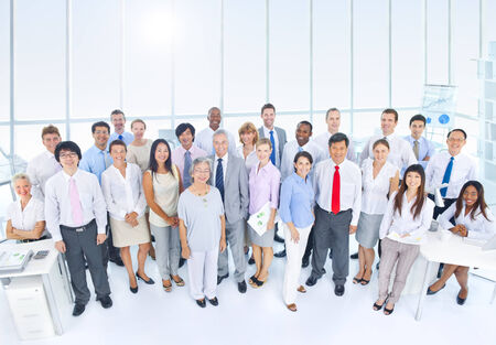 african business people: Group of Business People in the Office Stock Photo