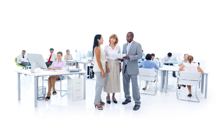 training consultant: Group of Business People Meeting Stock Photo