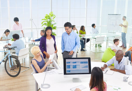 Group of Business People in the Office photo