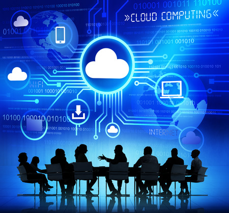 cloud files: Business People and Cloud Computing Concepts