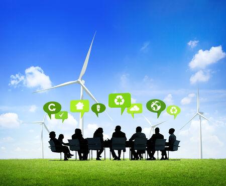 green fuel: Talk in Green Stock Photo