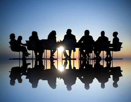 team meeting: Group of Business People Meeting Stock Photo