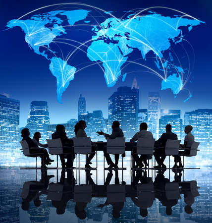 world communication: Business Communication Stock Photo