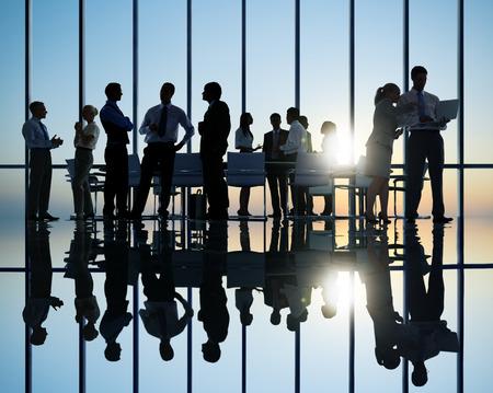 Skupina podnikatelů setkání Reklamní fotografie
