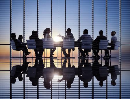 trabajadores: Reuni�n de negocios