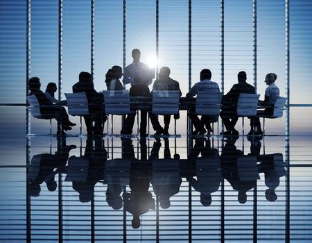 Groep van Business People Meeting Stockfoto