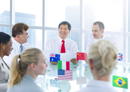 australian ethnicity: Group of Business People Meeting Stock Photo