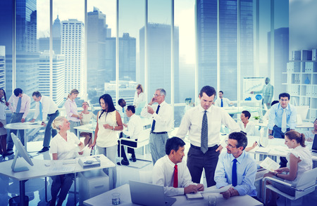 place of work: Business People Working in an office Stock Photo