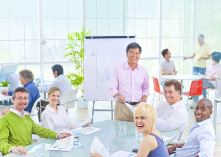 Group of Business People in the Office 版權商用圖片