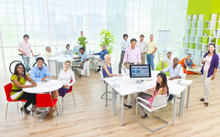Group of Business People in the Office Banque d'images