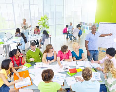 Groep leerling in de klas