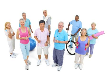 피트니스에서 건강한 사람들의 그룹 스톡 콘텐츠 - 31290045