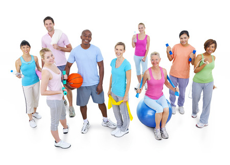 Group of Healthy People in the Fitness Stock Photo - 31290063