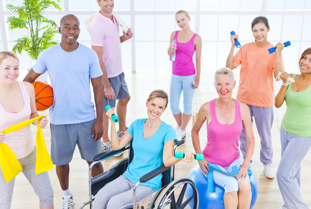 Group of Healthy People in the Fitness photo