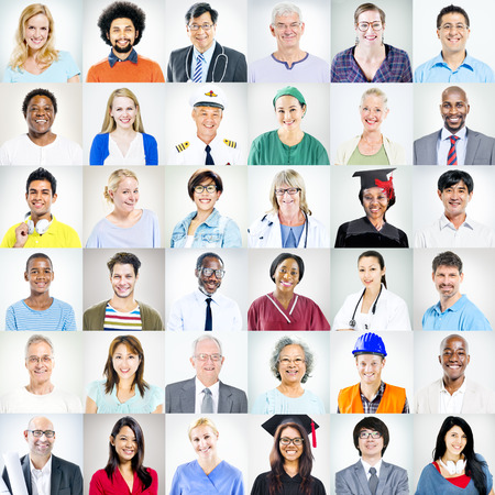 Portretten van multi-etnische gemengde Beroepen Mensen