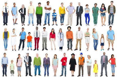 persona de pie: Grupo de multiétnicos Diversos mixtos Personas Ocupación