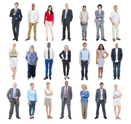 aislado: Grupo de hombres de negocios multiétnicos Diversos
