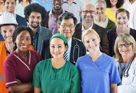 healthcare worker: Group of Diverse People with Various Occupations