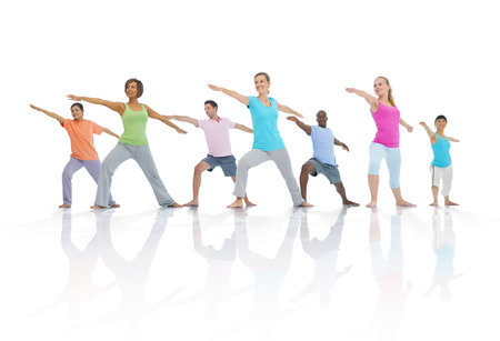 Group of Healthy People in Fitness photo
