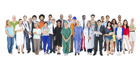 gente trabajando: Grupo de multi�tnicos Diversos mixtos Personas Ocupaci�n