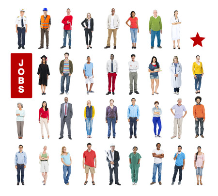 Group of Multiethnic Mixed Occupations People photo
