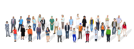 various occupations: Group of Multiethnic Various Occupations People Stock Photo