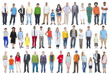 Grupo de multiétnicos Diversos mixtos Personas Ocupación