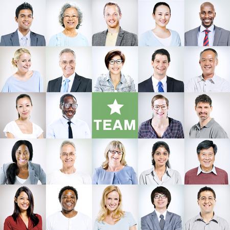 head shoulders: Portraits of Multiethnic Diverse Business People