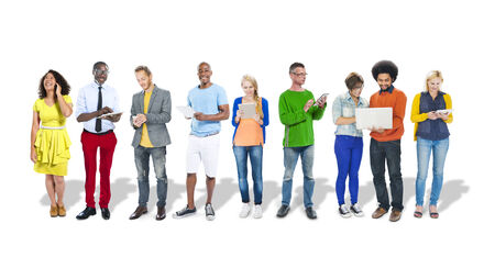 Business People Using Digital Devices Stock Photo