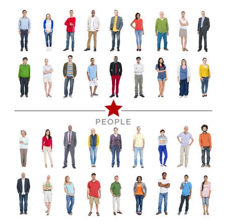 Groep van multi-etnische Diverse kleurrijke mensen