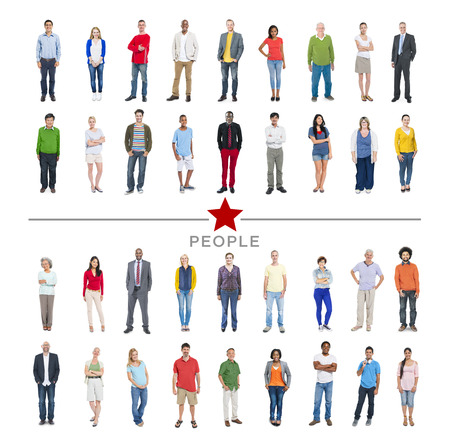asian business people: Group of Multiethnic Diverse Colorful People Stock Photo