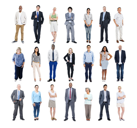 white  background: Grupo de hombres de negocios multi�tnicos Diversos