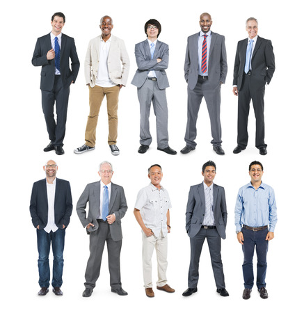 isolate: Group of Multiethnic Diverse Cheerful Businessmen