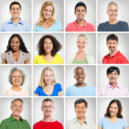 persona de la tercera edad: Colecci�n de Retratos diverso de personas