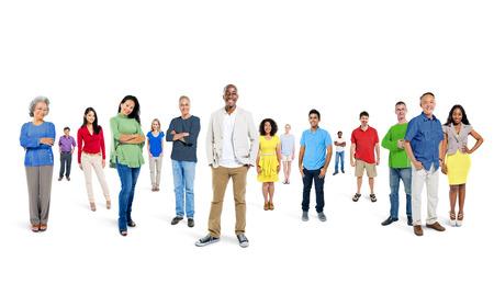 grupos de personas: Gran grupo de personas
